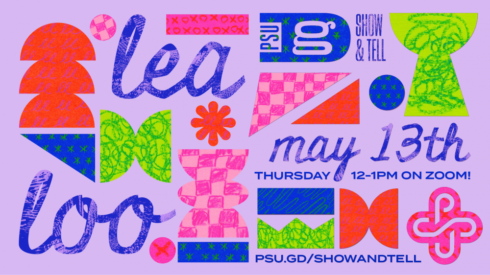 Show & Tell: Ryan Swedenborg, This Thursday at noon! psu.gd/showandtell