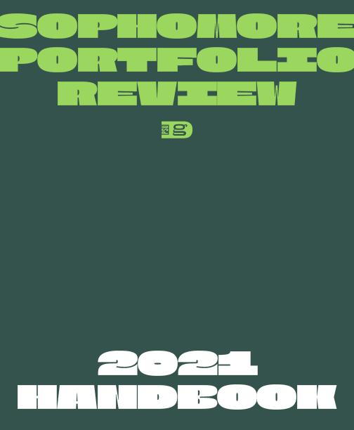 Sophomore Portfolio Review 2021 Handbook.