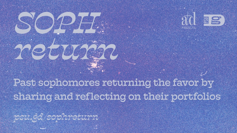 Going for portfolio review this year? Check out SOPH Return to see portfolios and reflections from those who've been through it!