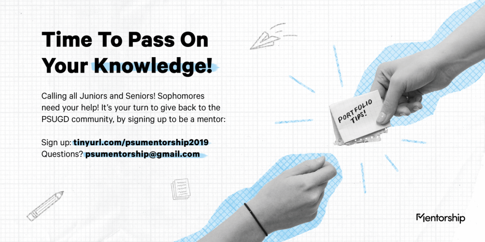 Sign up to be a mentor!